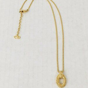 Christian Dior Signed Necklace Gold Plated